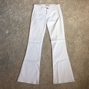 Lucky Brand White Charlotte Kick Flare Jeans